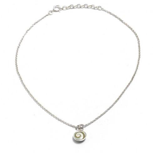 Bracelet argent chaine pampilles et oeil Ste Lucie