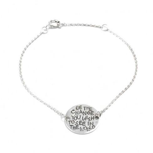 Silver Gandhi Charm Bracelet - Silver Bracelets - Boutique Nirvana