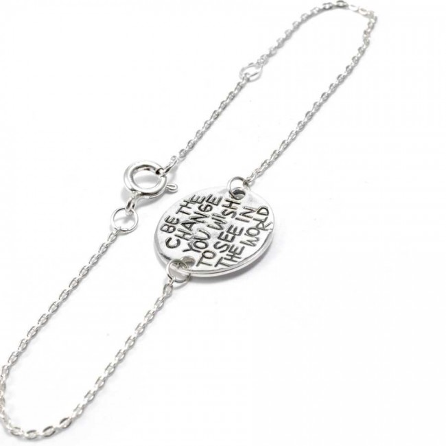 Bracelet spirituel en argent - BRACELETS ARGENT - Boutique Nirvana