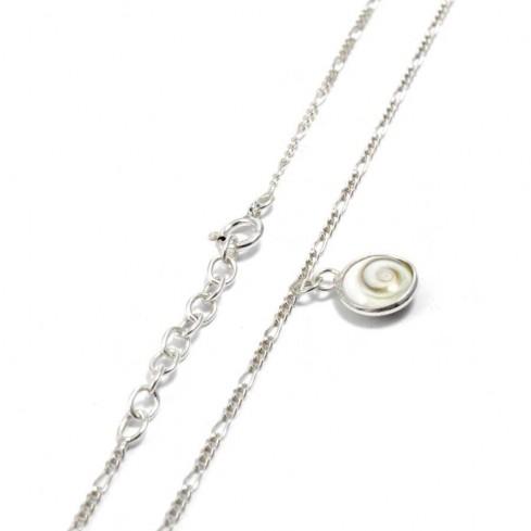 Bracelet argent fine chaine et oeil Ste Lucie - Silver Bracelets - Boutique Nirvana