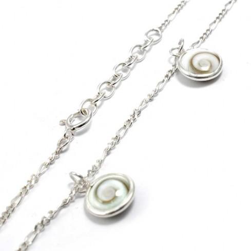 Bracelet argent chaine et 4 oeil Sainte Lucie - BRACELETS ARGENT - Boutique Nirvana