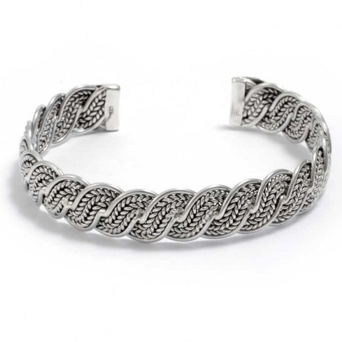 bracelet argent tressé réglable - BRACELETS ARGENT - Boutique Nirvana