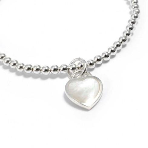 bracelet argent élastique pendentif coeur - BRACELETS ARGENT - Boutique Nirvana