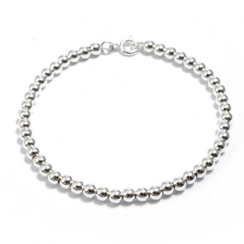Classic Sterling Silver Beaded Bracelet - ARGENT+ - Boutique Nirvana