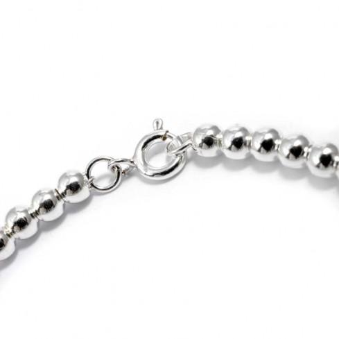 Bracelet souple perles d'argent - BRACELETS ARGENT - Boutique Nirvana