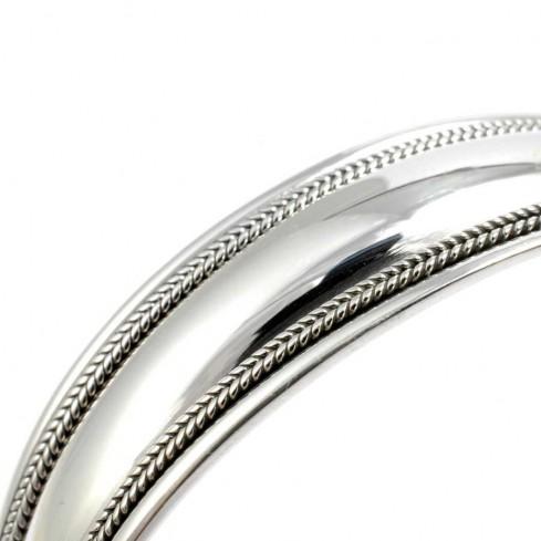 Bracelet argent rigide lisse fine bordure - BRACELETS ARGENT - Boutique Nirvana