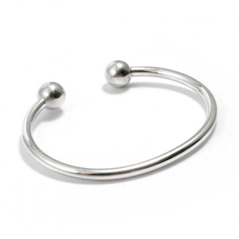 Smooth Silver Children's Bangle - Silver Bracelets - Boutique Nirvana