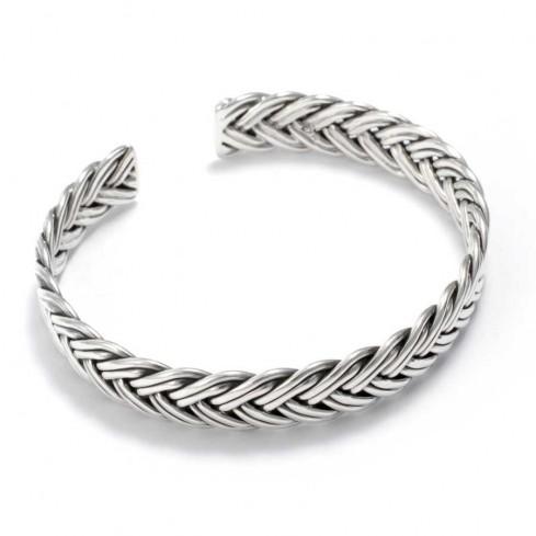 Bracelet argent tressé - BRACELETS ARGENT - Boutique Nirvana