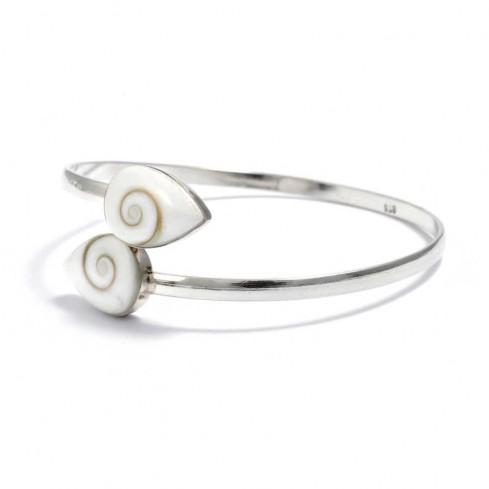 Bracelet Oeil de Sainte Lucie croisé - BRACELETS ARGENT - Boutique Nirvana
