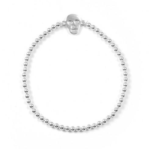 bracelet argent tete de mort