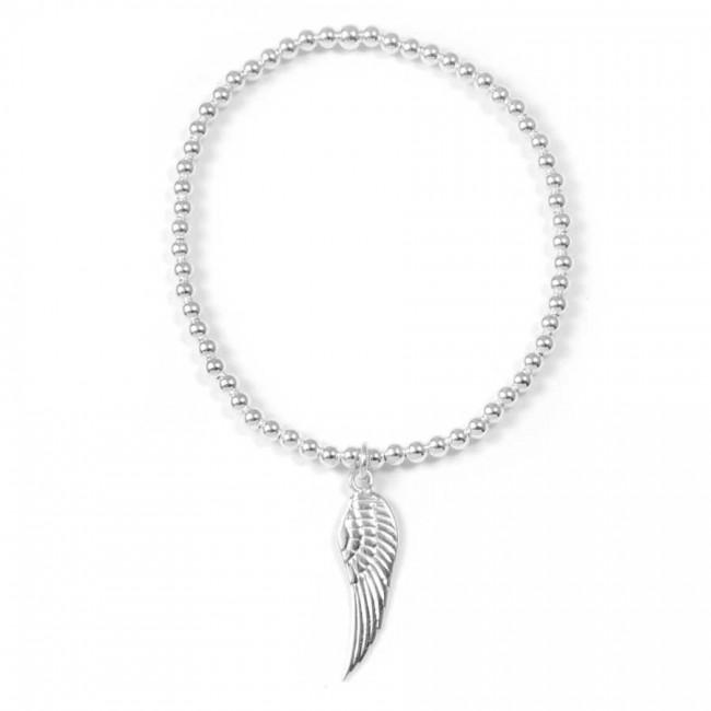 Bracelet argent aile d'ange ajustable - BRACELETS ARGENT - Boutique Nirvana