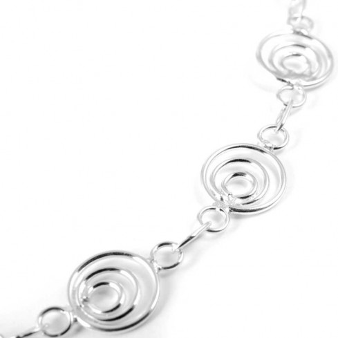 Sterling Silver Spirals Ankle Chain   - Silver Ankle Chain - Boutique Nirvana
