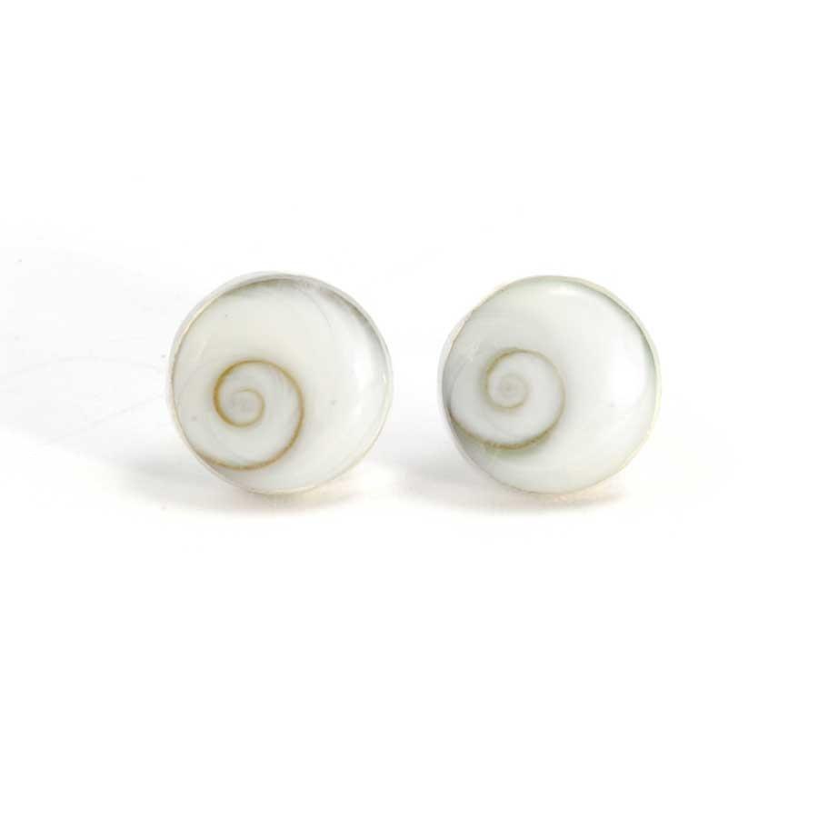 Eye of St Lucia Silver Stud Earrings - SILVER EARRINGS - Boutique Nirvana