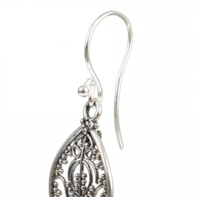 Antique Silver Filigree Earrings - SILVER EARRINGS - Boutique Nirvana