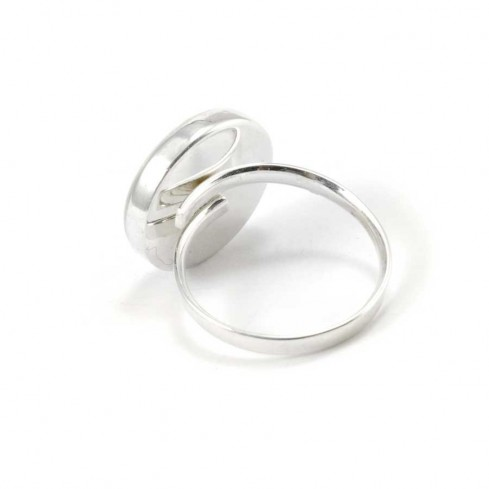 Round Eye of St Lucia Silver Ring - Silver Rings - Boutique Nirvana