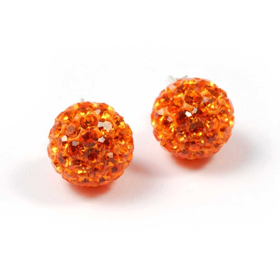 Sparkling Colourful Stud Earrings - STRASS - Boutique Nirvana