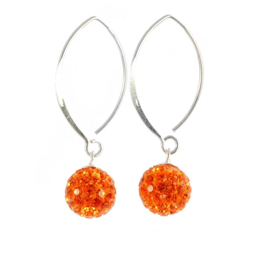 Boucles d'oreilles pendantes avec strass -  Strass - Boutique Nirvana