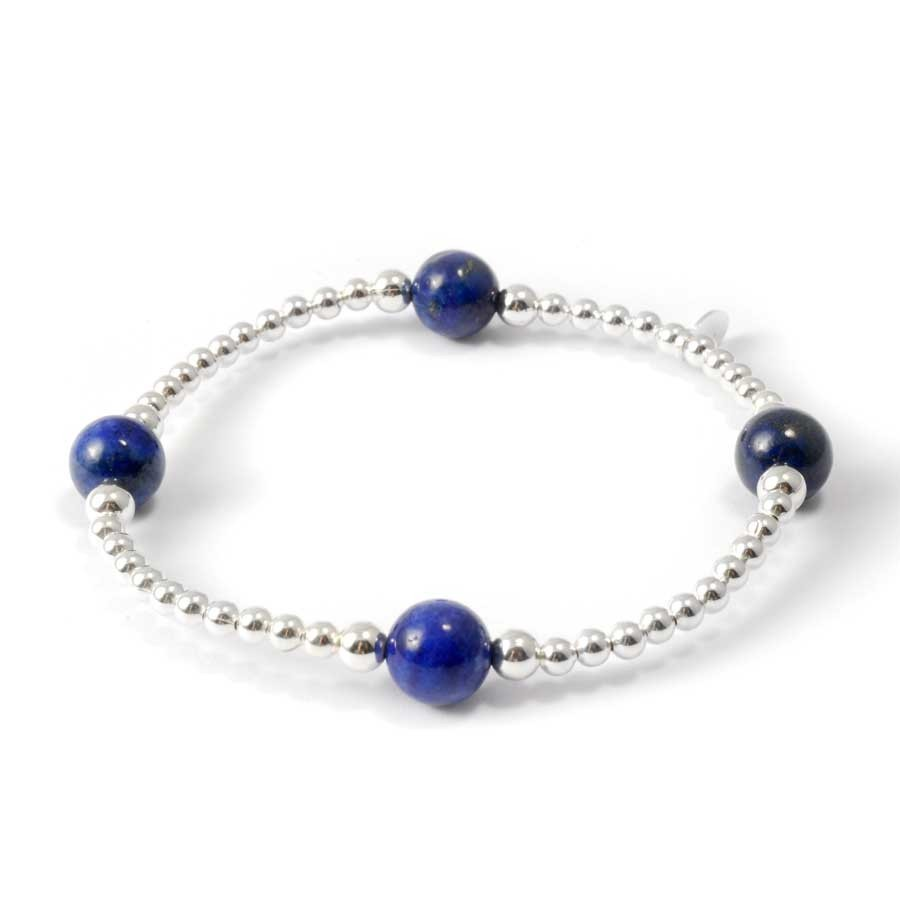 Unique Silver Beaded Gemstone Bracelet - PIERRES FINES+ - Boutique Nirvana
