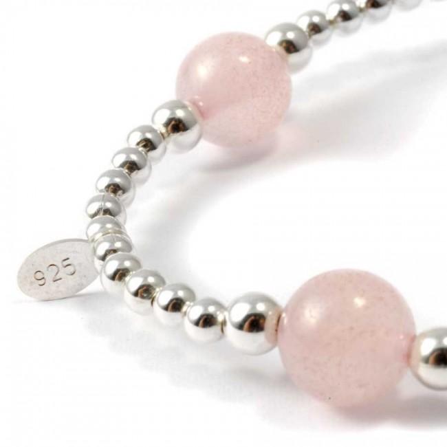 Unique Silver Beaded Gemstone Bracelet - PIERRES FINES+ - Boutique Nirvana