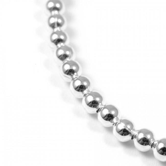 Bracelet élastique petites perles d'argent - BRACELETS ARGENT - Boutique Nirvana