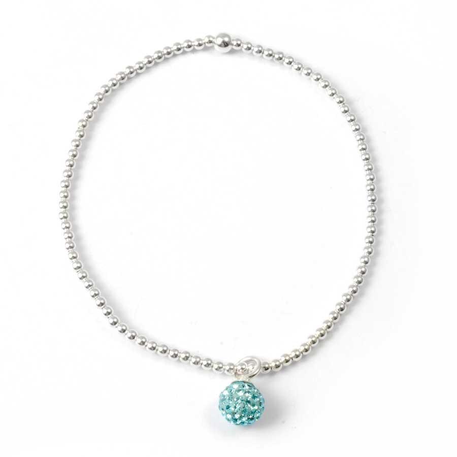 Bracelet argent charm strass - BRACELETS ARGENT - Boutique Nirvana