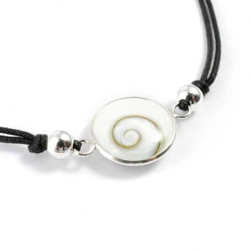 Bracelet argent cordon et oeil Ste Lucie - BRACELETS ARGENT - Boutique Nirvana