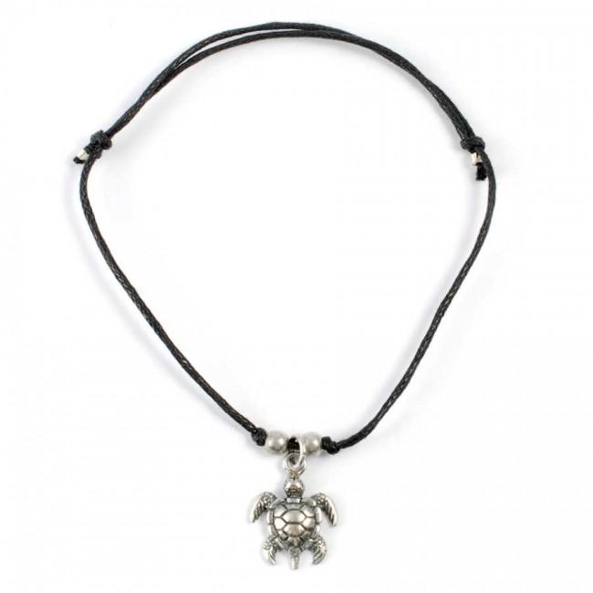 Bracelet cordon avec pendentif argent - BRACELETS ARGENT - Boutique Nirvana