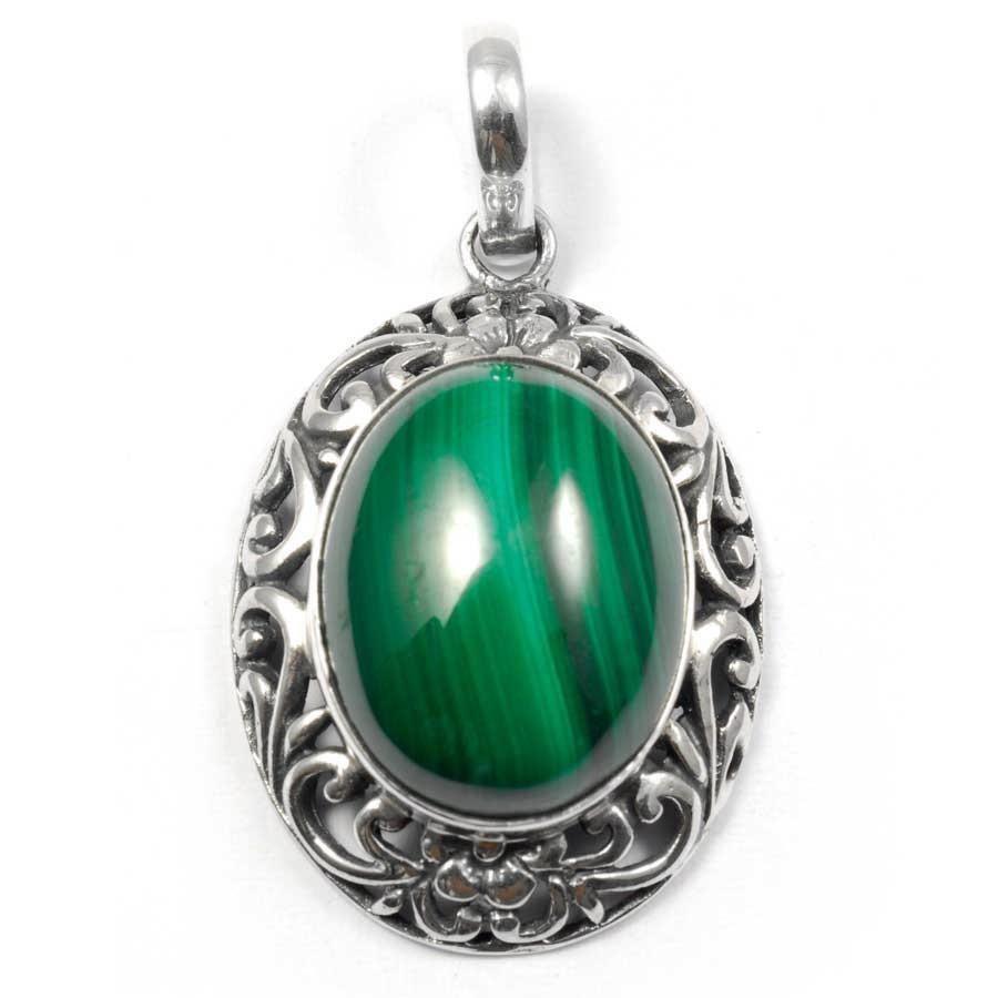 Ethnic Silver & Natural Stone Pendant - Silver Jewellery  - Boutique Nirvana