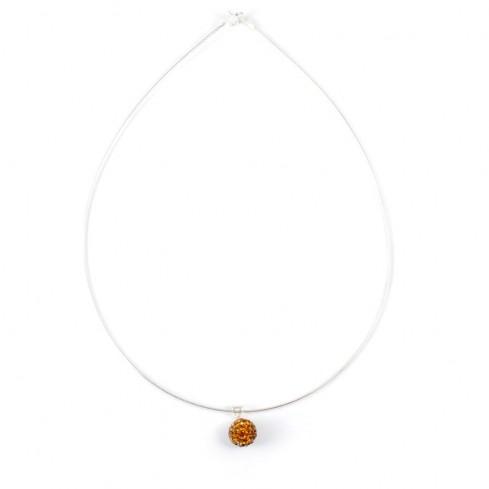 Cable d'argent pendentif strass - BIJOUX ARGENT - Boutique Nirvana
