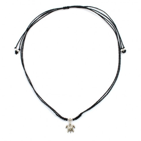 Collier cordon noir avec pendentif - BIJOUX ARGENT - Boutique Nirvana