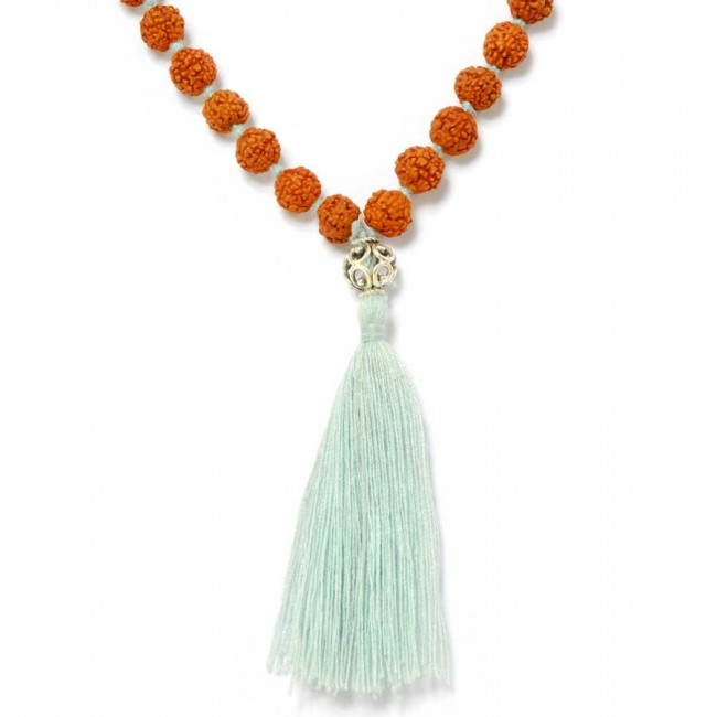 Rudraksha malas and gems - Silver Jewellery  - Boutique Nirvana