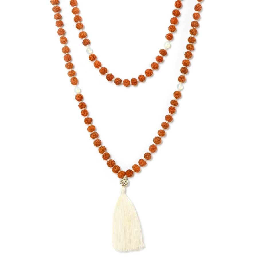Rudraksha malas and gems - Silver Jewellery  - Boutique Nirvana