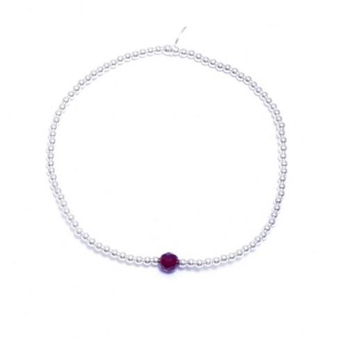 Bracelet petites perles argent et pierres - Home - Boutique Nirvana