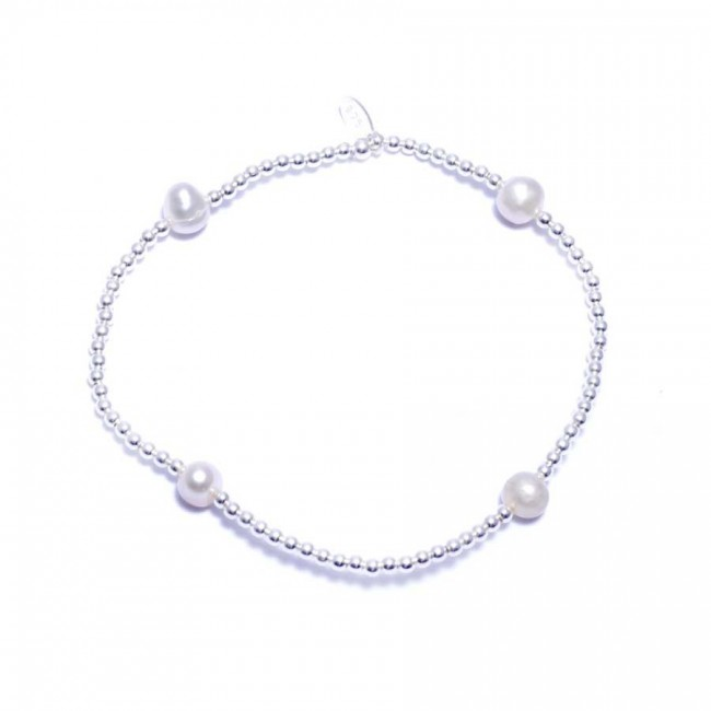 Bracelet argent et perles d'eau douce ajustable - BRACELETS ARGENT - Boutique Nirvana