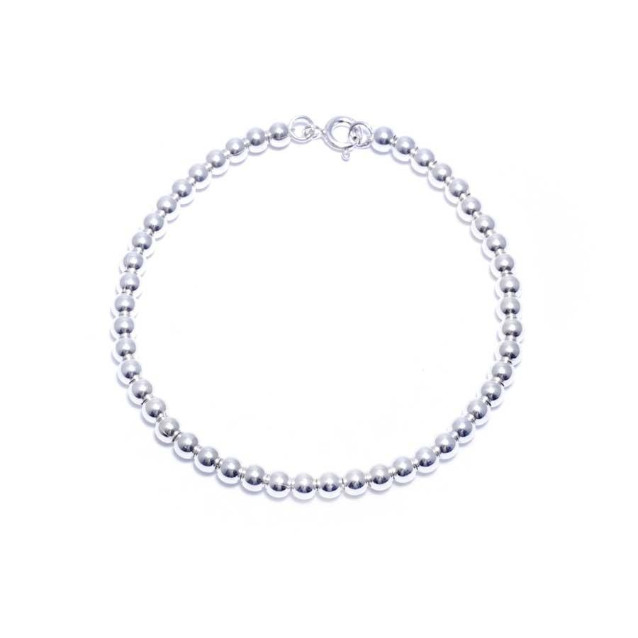 bracelet argent et perle