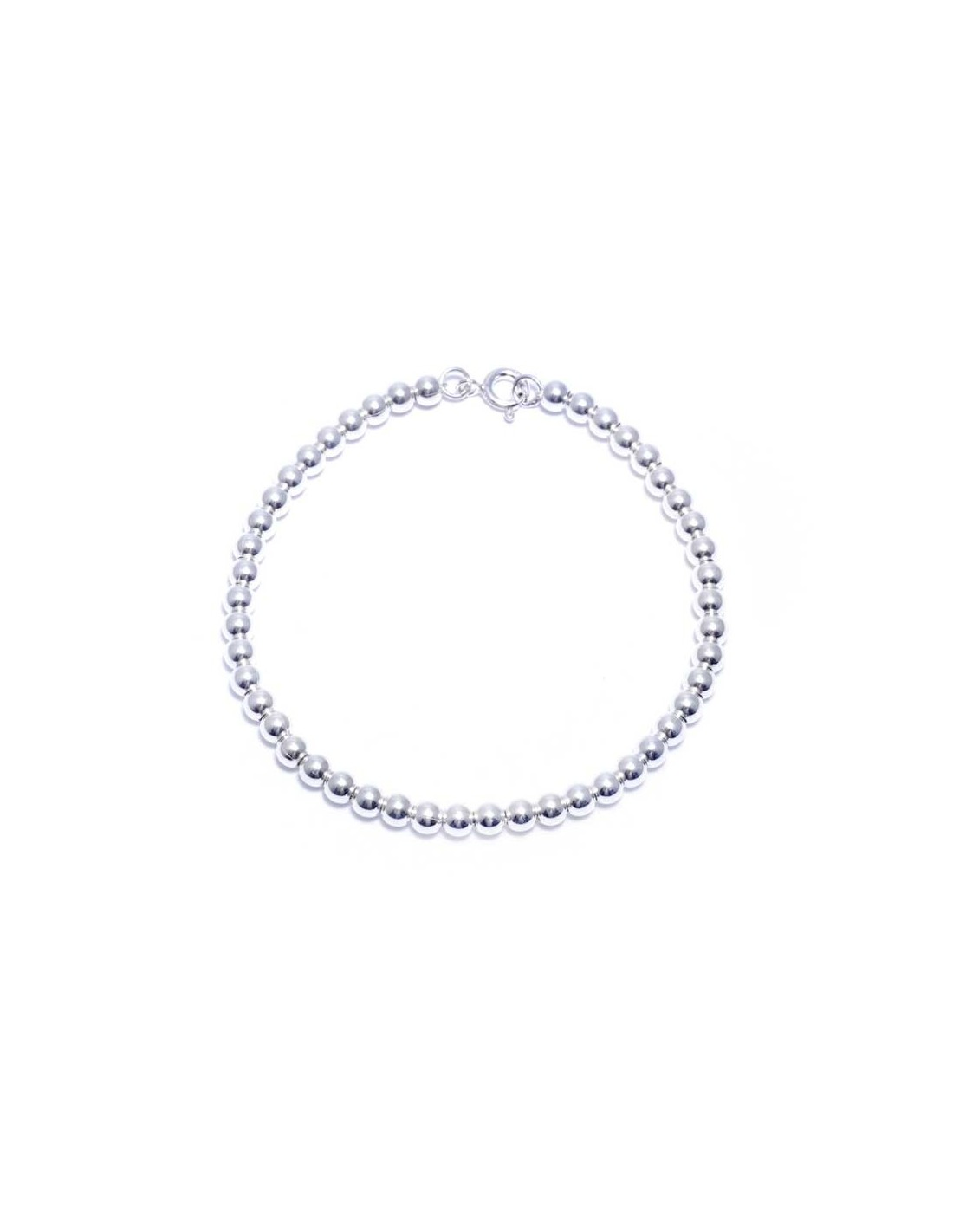 bracelet perle argent femme