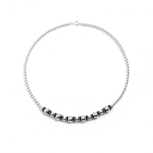 Collier perles d'argent multiple - COLLIERS ARGENT - Boutique Nirvana