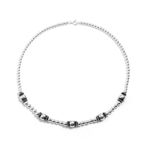 Collier perles d'argent - Silver Necklaces - Boutique Nirvana