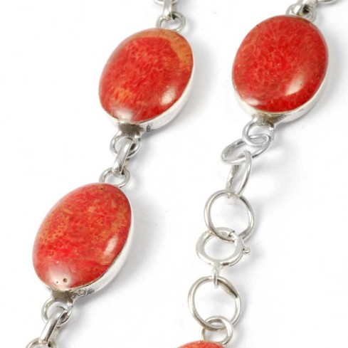 Bracelet corail ovales - NACRE & CORAIL - Boutique Nirvana