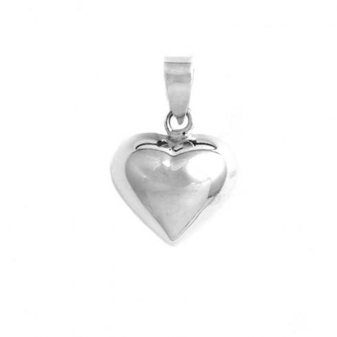 Petit pendentif argent coeur en volume - Sterling Silver - Boutique Nirvana