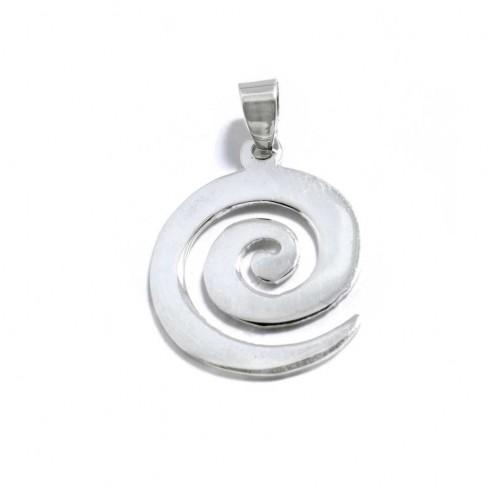 Pendentif en argent spirale plate - Sterling Silver - Boutique Nirvana