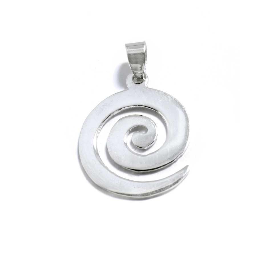 Pendentif en argent spirale plate - ARGENT - Boutique Nirvana