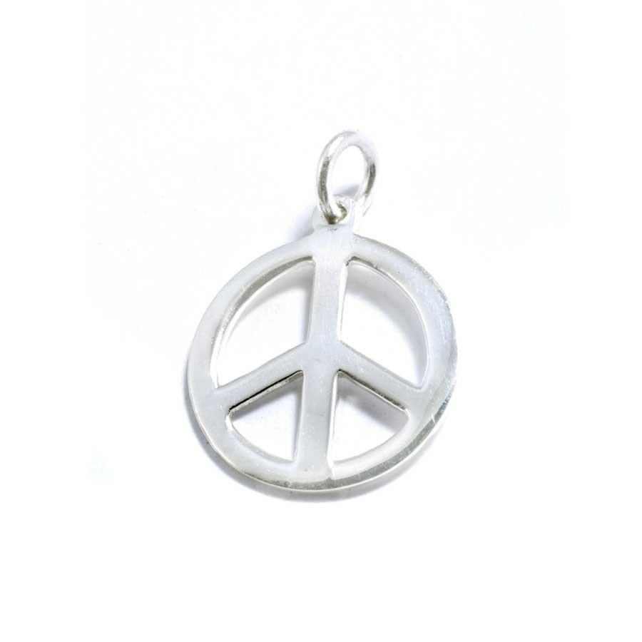 Petit pendentif argent peace & love - ARGENT - Boutique Nirvana