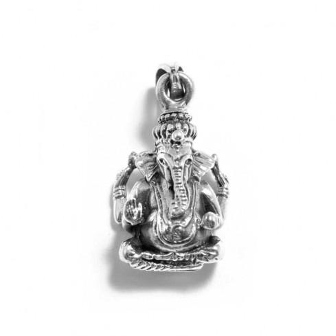 Pendentif argent vieilli Ganesh en volume - ARGENT - Boutique Nirvana