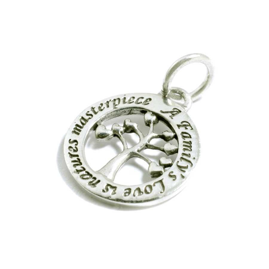 Petit pendentif en argent arbre et message - PENDENTIFS ARGENT - Boutique Nirvana
