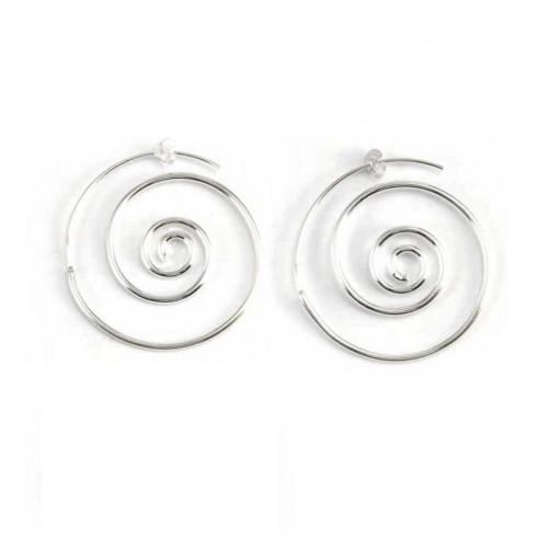 Boucles d'oreilles spirales en argent - BIJOUX ARGENT - Boutique Nirvana