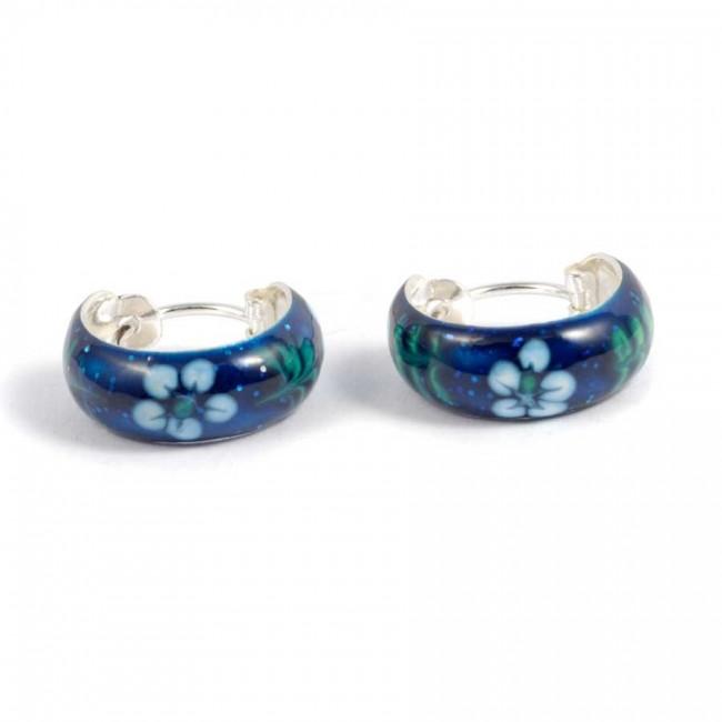 Petites créoles motifs colorés ⌀ 1,5 cm - Créoles  - Boutique Nirvana
