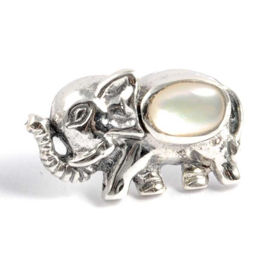 Boucles d'oreilles argent petit éléphant et pierre fine - SILVER EARRINGS - Boutique Nirvana