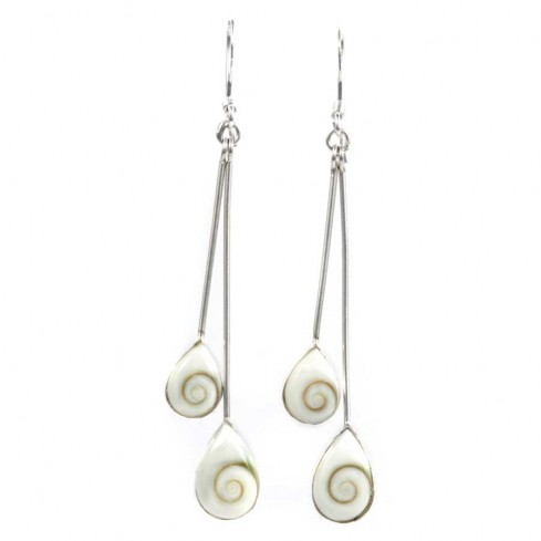 Boucles d'oreilles argent 2 pierres Ste Lucie - Eye of Shiva - Boutique Nirvana