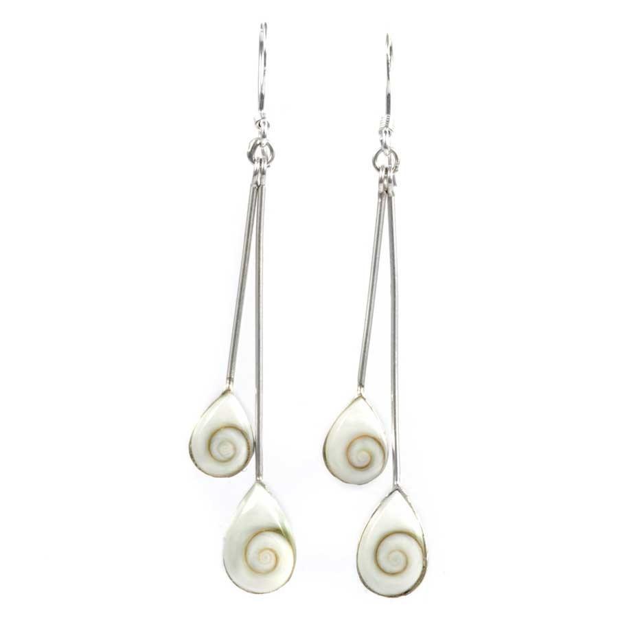 Boucles d'oreilles argent 2 pierres Ste Lucie - SAINTE LUCIE - Boutique Nirvana